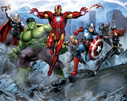 Walltastic 8 x 10 ft Avengers Assemble Wallpaper Mural