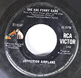 JEFFERSON AIRPLANE 45 RPM SHE HAS FUNNY CARS / SOMEBODY TO LOVE