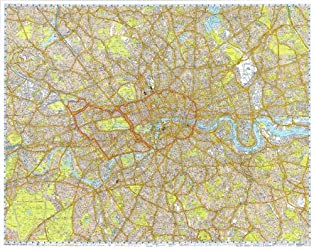 Premier Encapsulated 2012 Wall Map of London (122 x 97 cms)