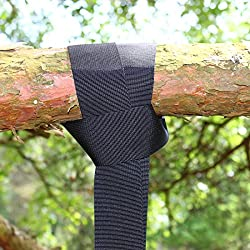 Tree Swing Hanging Strap Kit Hold 500 lb,Easy Installation- Perfect for Tree Swing Kit/Outdoor Swing/Tires & Disc Swings-Single 48 Inch Strap & Screw Lock Snap Carabiner Hook-100% Waterproof By Kovira