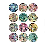 Micup Nail Art Abalone Shell Nail Decals Texture Nails Sticker 3D Nail Art Decoration Kit For 3D Manicures - 12 Colors/Set (Color: 12box shell naildecoration)
