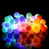 ProGreen Outdoor String Lights, 14.8ft 40 LED Waterproof Ball Lights, 8 Lighting Modes Dimmable Remote Ball, Battery Powered Starry Fairy String lights for Garden,Christmas Tree, Parties (Multi Color)