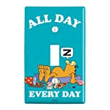 GRAPHICS & MORE Garfield All Day Every Day Plastic Wall Decor Toggle Light Switch Plate Cover (Color: Multi)