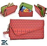RED : Woman's Phone Wrislet Cover Case Purse HTC Velocity 4G Bonus Eka... learn more