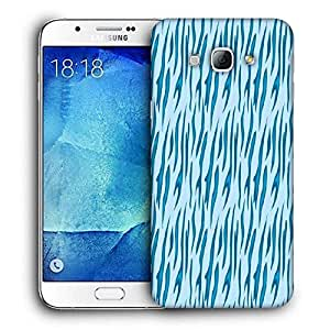 Snoogg Abstract Blue Chetah Design Printed Protective Phone Back Case Cover For Samsung Galaxy Note 5