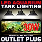 30W LED Aquarium Flood Light COOL White High Power Fish Tank Lighting Reef Plant D?cor Salt Fresh H2O Main Lighting, Sub Lighting, Fresh Water Tanks, Salt Water Tanks