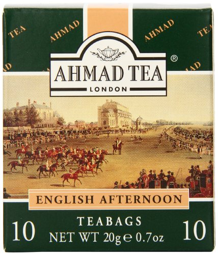 Ahmad Tea Enveloped English Afternoon Teabags, 10 Count (Pack Of 24)