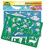 Lena 65768 - 2 Zeichenschablone Afrika und Meerestiere