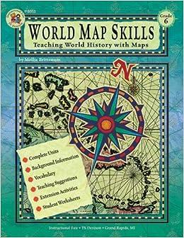 world map skills grade 6 school specialty publishing 9780880129350 books. Black Bedroom Furniture Sets. Home Design Ideas