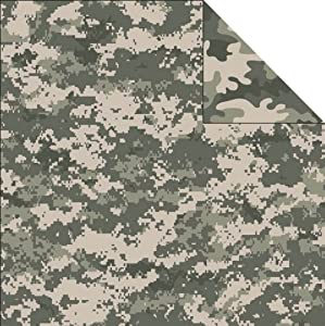 camouflage scrapbook paper free download
