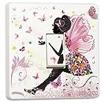 Pink Fairy Princess Butterfly & Flowe...