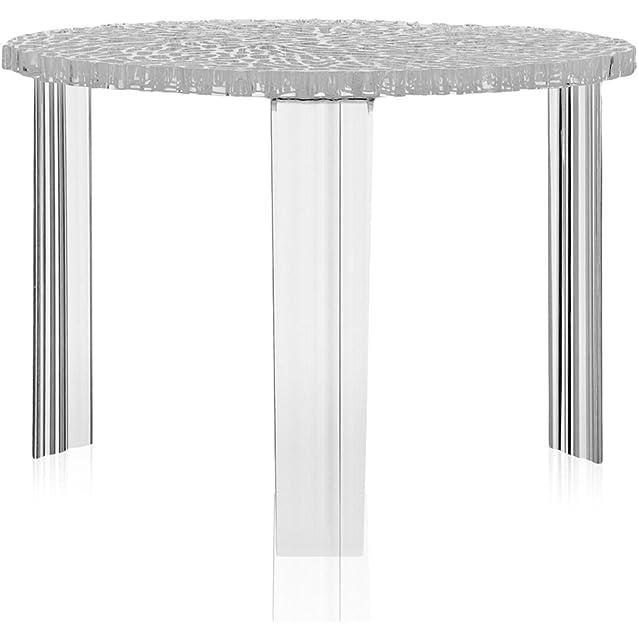 Kartell T-Table Tavolo Medio, Confezione da 1 Pezzo, Cristallo