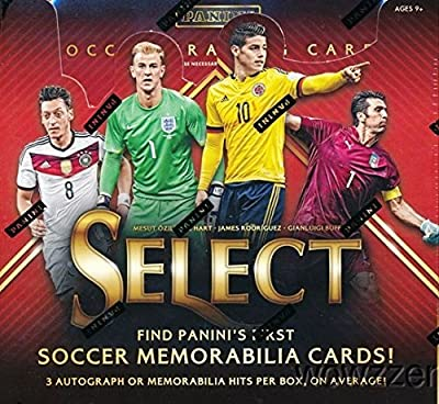 2015 Panini Select Soccer Factory Sealed HOBBY Box with THREE(3) AUTOGRAPHS/JERSEYS and (8) #'d PRIZMS! Look for Autographs, Jerseys & Cards of Lionel Messi, Ronaldo ,Pele ,Neymar,Baggio & More!