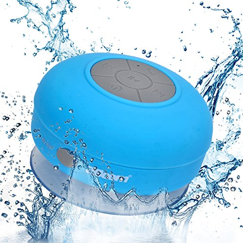 2BOOM Aqua Jam Portable Bluetooth Wireless Water Resistant Shower Speaker with Suction Cup Blue (Tweakers Portable Mini Speakers compare prices)