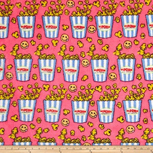 Whisper Plush Fleece Popcorn Fuschia/Blue Fabric By The Yard (Popcorn Yard compare prices)