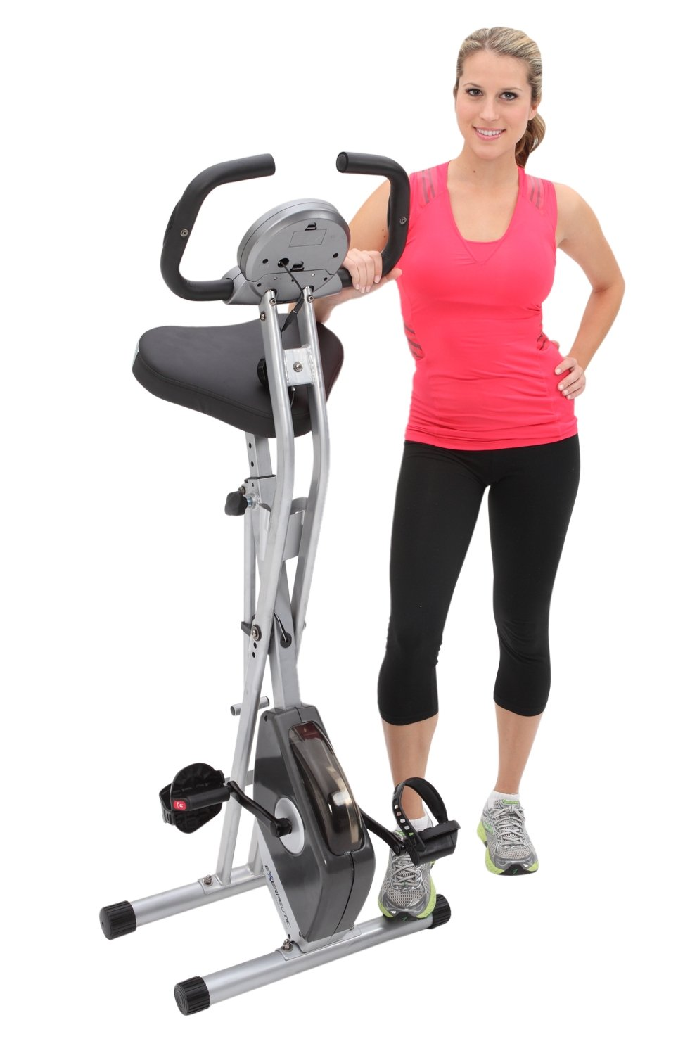best spin bike Exerpeutic Folding Magnetic Upright Bike with Pulse