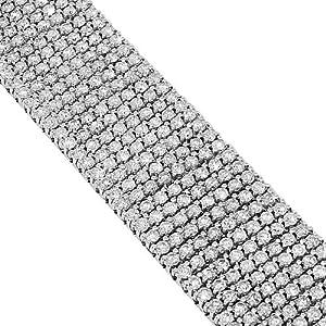 10K White Gold Mens Diamond Bracelet 30.00 Ctw