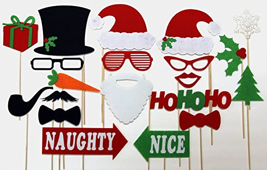Christmas Party Photo Props Christmas Photo Booth Props mr
