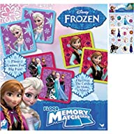 Disney Frozen Memory Match Game Gift Set For Kids – 1 (54-Piece) Floor Memory Match Game Set Plus 1…