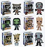 Funko ファンコ MARVEL マーベル GUARDIANS OF THE GALAXY ガーディアンズオブギャラクシー 6pc 3.75 POP FIGURE フィギュア SET with ROCKET RACCOON GROOT GAMORA DRAX DANCING GROOT AND STAR LORD