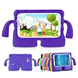 Lioeo Samsung Galaxy Tab 3/3 Lite 7.0 Case for Kids Rubber Shock Proof Protective Case Cover with Carry Handle for Samsung Galaxy Tab 3/3 Lite Tablet 7 inch Screen? (Color: purple, Tamaño: 7.0 inch)