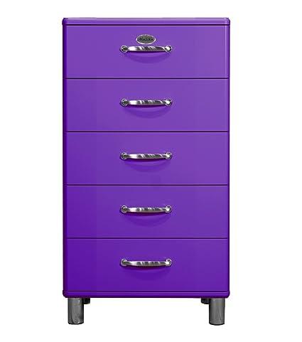 Tenzo 5215-040 Malibu, Designer Kommode, 111 x 60 x 41 cm, MDF lackiert, violett