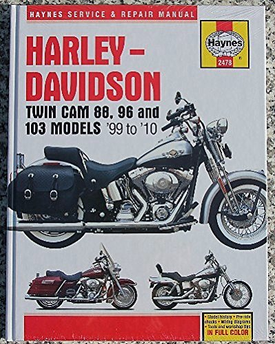 1999-2010 Harley Softail Fatboy Dyna Electra Road King HAYNES MANUAL (2000 Softail Service Manual compare prices)