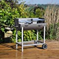 Kingfisher Half Drum Steel Garden Barbeque by Kingfisher