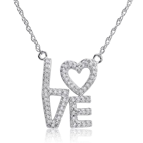 Sterling-Silver-and-Diamond-Heart-in-Love-Necklace-18-inch