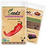 CERTIFIED ORGANIC SEEDS (Apr. 125) - Ring-O-Fire Cayenne Pepper Seeds - Heirloom Vegetable Seeds - Non GMO, Non Hybrid - USA