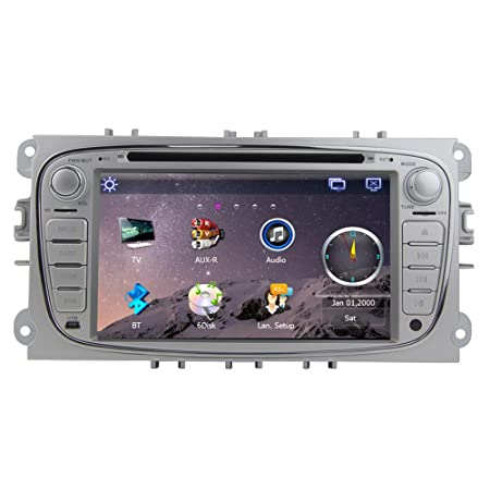 "Rungrace Autoradio CD/DVD 7"" 2 Din Ecran TFT pour Ford Focus avec Bluetooth, Navigation-Ready GPS, RDS, CAN BUS (RL-761WGNR02"
