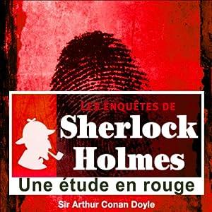 Une étude en rouge (Les enquêtes de Sherlock Holmes 58)   Livre audio
