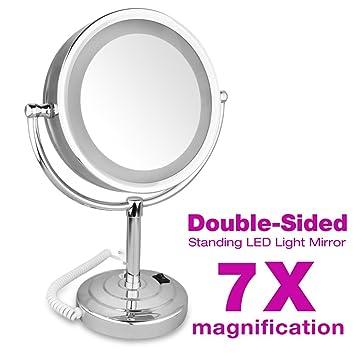 Doppelter Schminkspiegel 360 Grad drehbarer tragbarer kleiner SpiegelRT