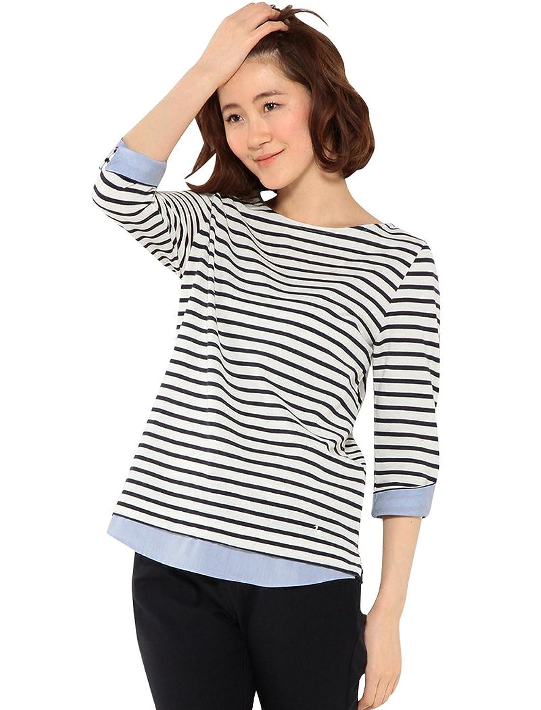 Amazon.co.jp: (デコイ)DECOY 重ね着風ボーダー7分袖Tシャツ: 服&ファッション小物通販