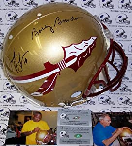 Bobby Bowden & Derrick Brooks Hand Signed Florida State Seminoles Black Authentic... by Sports+Memorabilia