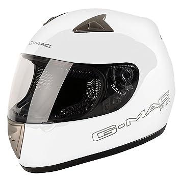 G-MAC 108136L13 Casque Moto Pilot Mono Blanc