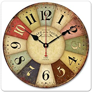 12 vintage france paris colourful french - Country style wall clocks ...