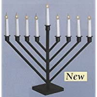Display Large Size Black Finish Electric Menorah