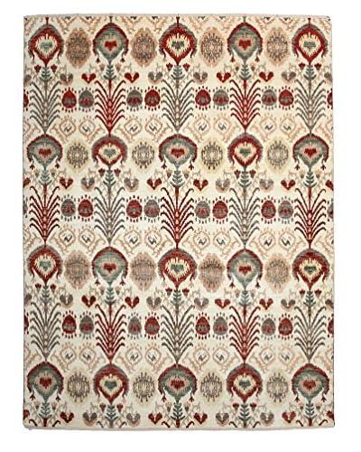 Darya Rugs Ikat Oriental Rug, Red, 8' 1 x 10' 1