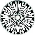 """Radzierblenden Radkappen Radabdeckung 15"""" Zoll #906 SILBER SCHWARZ von ZentimeX auf Reifen Onlineshop"""