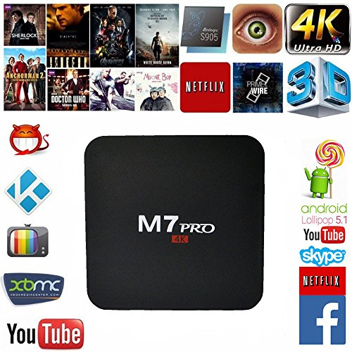 For Sale! Mifanstech M7 PRO 4K Android 5.1 Amlogic S905 Quad Core Smart Tv Box with Kodi Pre-install...
