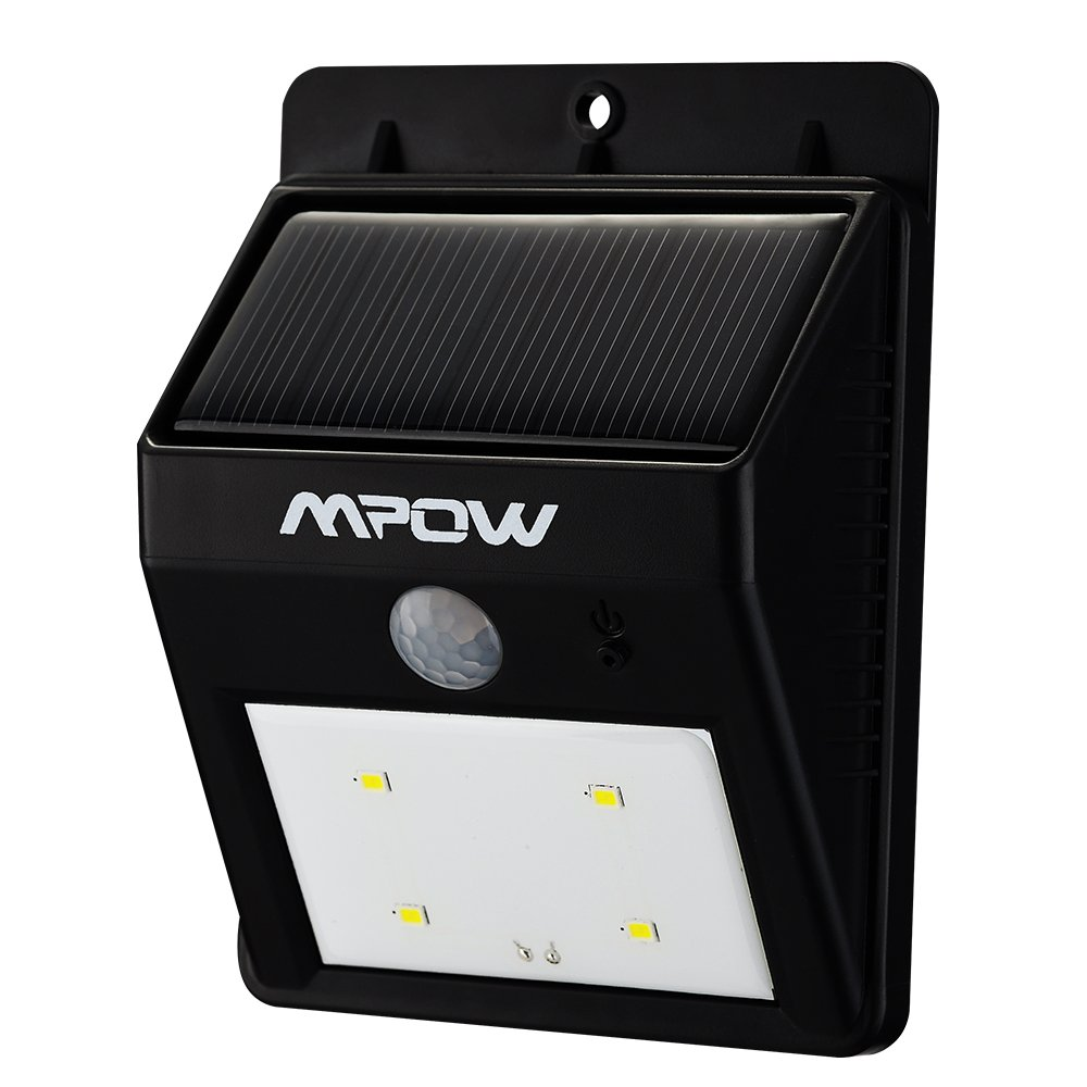 mpow solar powerd wireless led security motion sensor light outdoor. Black Bedroom Furniture Sets. Home Design Ideas