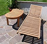 Hochwertige TEAK Sonnenliege Gartenliege Strandliege Liegestuhl Holzliege Holz sehr robust