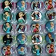 9 Frozen Badges, Individually Wrapped Elsa Badges Frozen Badge for Frozen Party Bag
