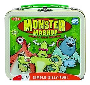 Poof-Slinky 0X4267 Id-al Monstre Mashup jeu de cartes - collectionner avec Mini Tin Tin Lunch Box Conteneur de stockage, 54-Colorfully cartes illustr-es