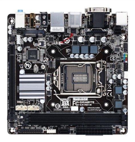Gigabyte Intel H81 Mini ITX DDR3 1600 LGA
