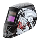 Antra AH6-260-6320 Solar Power Auto Darkening Welding Helmet with AntFi X60-2 Wide Shade Range 4/5-9/9-13 with Grinding Feature Extra Lens Covers Good for Arc Tig Mig Plasma (Color: Bloody Ghost, Tamaño: 3.86X1.78