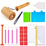 Aozer Diamond Painting Tools, 5D Diamond Painting Accessories | Kits with Wooden Roller, Stitch Pen, Tweezers, Glue, Plastic Tray and Label Stickers for Adults or Kids (Color: Style Two)