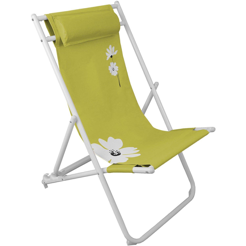 Liegestuhl Campingstuhl Gartenstuhl Klappstuhl Strandstuhl Strandliege Campingmöbel Gartenmöbel faltbar – Grün kaufen