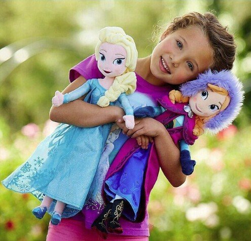 [Unique gifts, sweet, cute girl toy Princess Anna and Elsa Pelucia Bone Ca plush toy doll Princesa Juguetes.] (Princess Anastasia Halloween Costume)